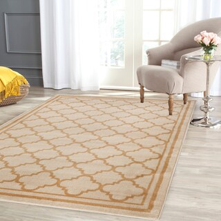 Trellis Contemporary Modern Design Cream Area Rug (3'3 x 5')