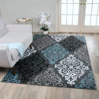 Transitional Soft Damask Area Rug