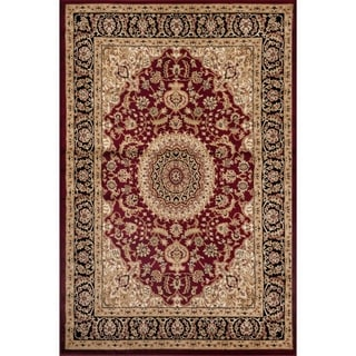 Traditional Oriental Medallion Design Burgundy Area Rug (2' x 3')