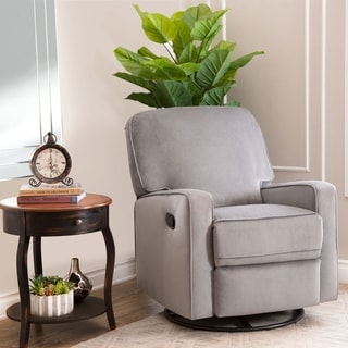 Link to Abbyson Bella Grey Fabric Swivel Glider Recliner Chair Similar Items in Kids' Ottomans & Gliders