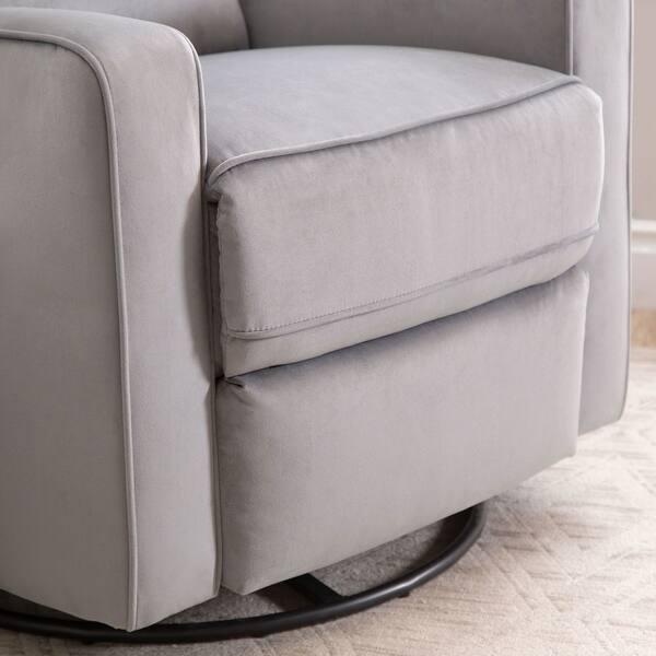 Groovy Shop Abbyson Bella Grey Fabric Swivel Glider Recliner Chair Machost Co Dining Chair Design Ideas Machostcouk