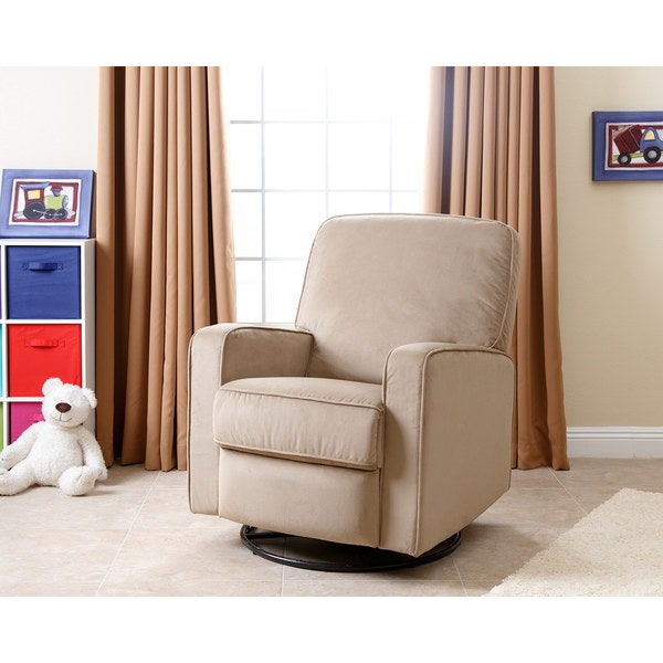 Abbyson Bella Beige Fabric Swivel Glider Recliner Chair - Free Shipping Today - Overstock.com - 17413019  sc 1 st  Overstock.com & Abbyson Bella Beige Fabric Swivel Glider Recliner Chair - Free ... islam-shia.org
