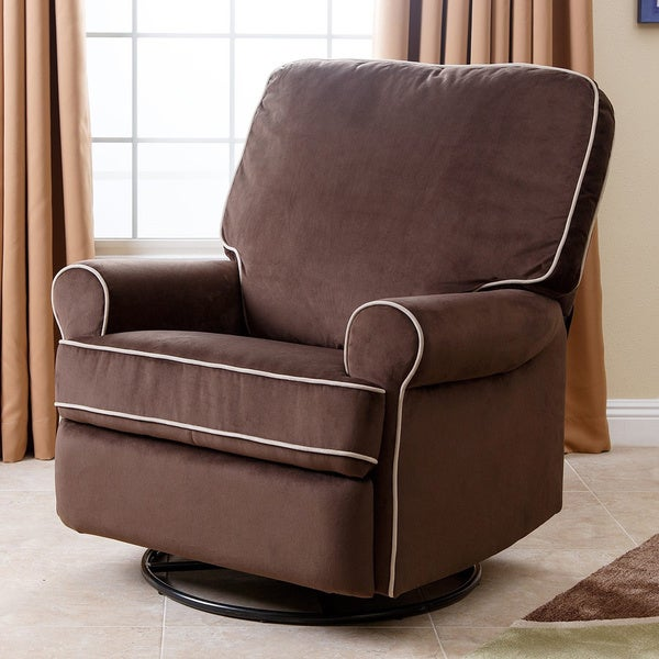Abbyson Bentley Coffee Fabric Swivel Glider Recliner Chair & Abbyson Bentley Coffee Fabric Swivel Glider Recliner Chair - Free ... islam-shia.org