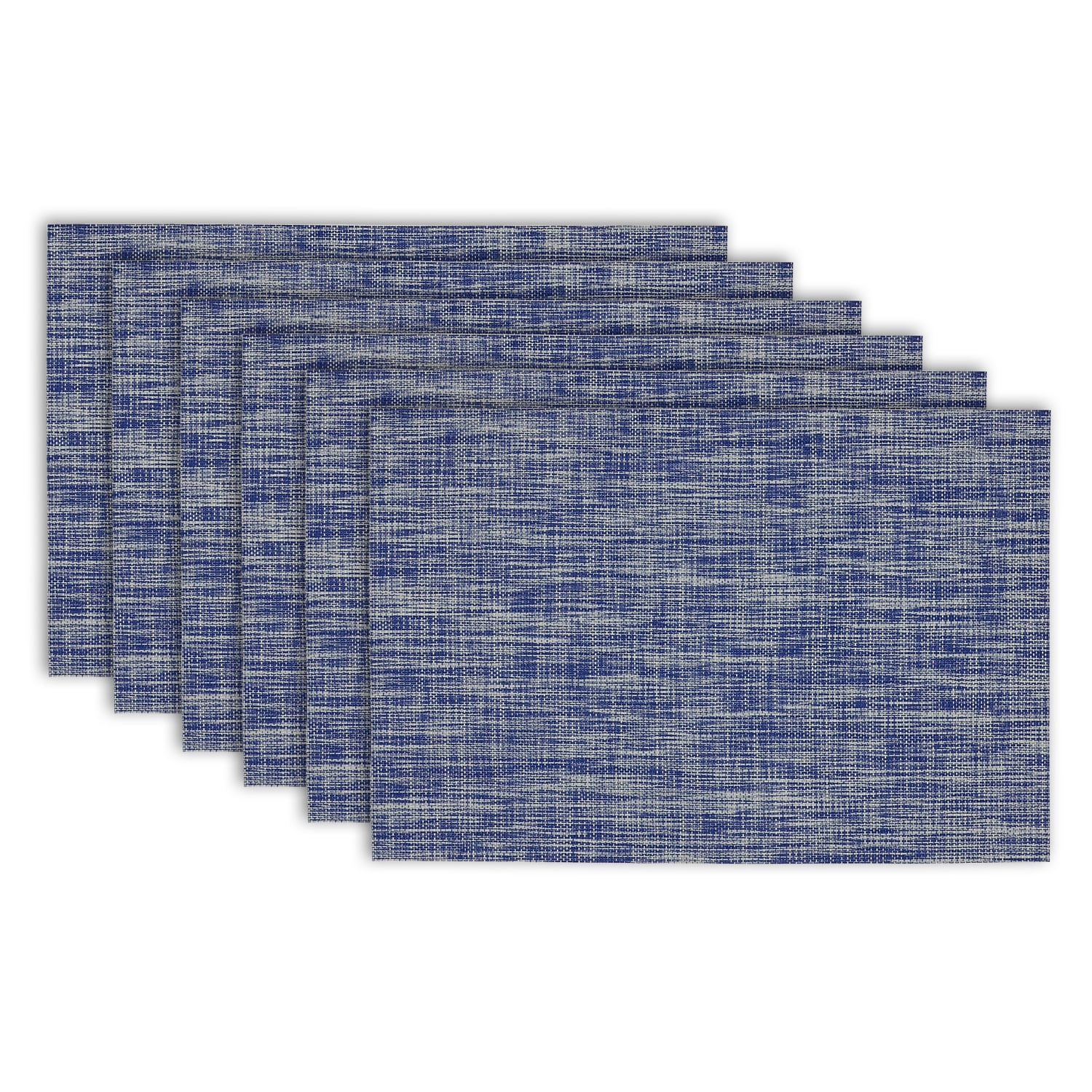 Design Imports Nautical Blue Tweed Placemat (Set of 6) (S...