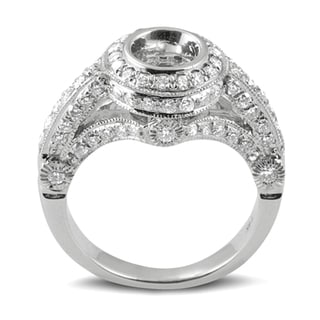Elora 14k White Gold 1 1/5ct TDW Round Diamond Bridal Semi-mount Engagement Ring (H-I, I1-I2)