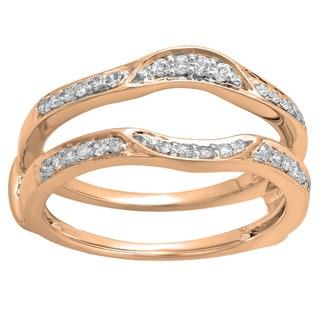 14k Gold 1/4ct TDW Round Diamond Anniversary Double Guard Ring (H-I, I1-I2)