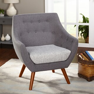 Simple Living Elijah Heather Grey Fabric Chair
