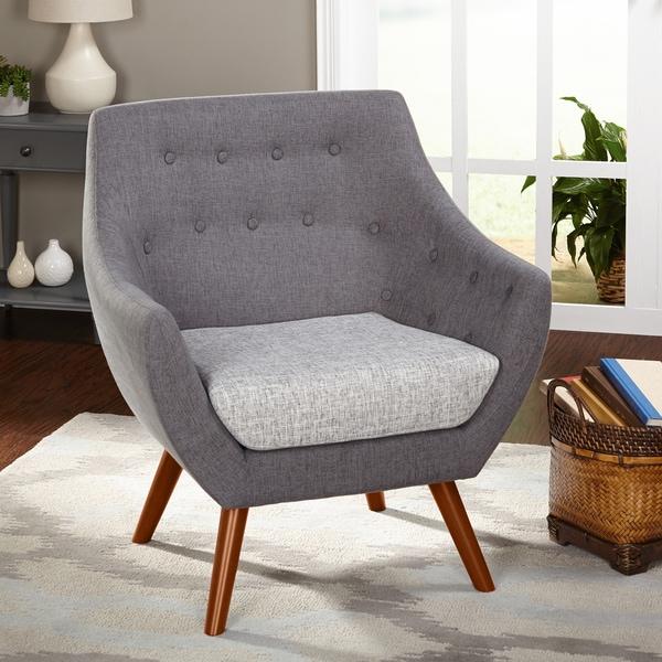 Great Simple Living Elijah Heather Grey Fabric Chair