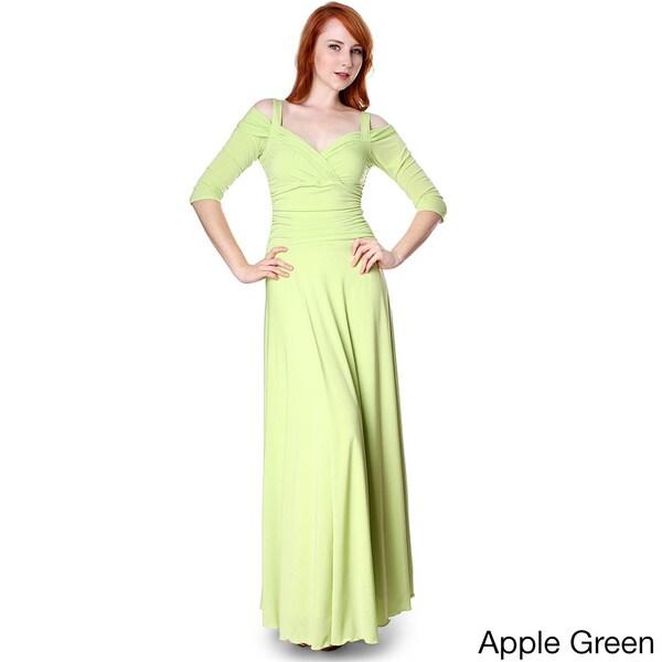 Long Dress Formal 3 4 Sleeve