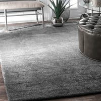 Taylor & Olive Pete Handmade Modern Solid Ombre Multi Rug - 7'6 x 9'6