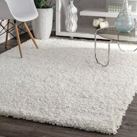 nuLOOM Alexa My Soft and Plush Solid White Shag Rug - 3'2 x 5'