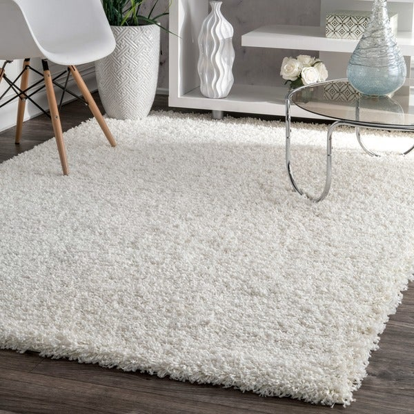 Shop Nuloom Alexa My Soft And Plush Solid White Shag Rug