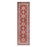 Herat Oriental Afghan Hand-knotted Tribal Vegetable Dye Kazak Wool Runner (2'6 x 9')