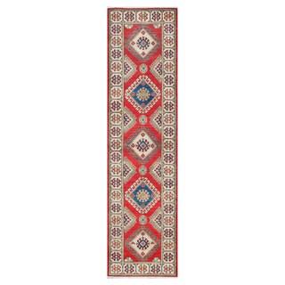 Herat Oriental Afghan Hand-knotted Tribal Vegetable Dye Kazak Wool Runner (2'9 x 10'2)