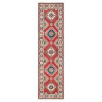 Handmade Herat Oriental Afghan Tribal Vegetable Dye Kazak Wool Runner (Afghanistan) - 2'9 x 10'2