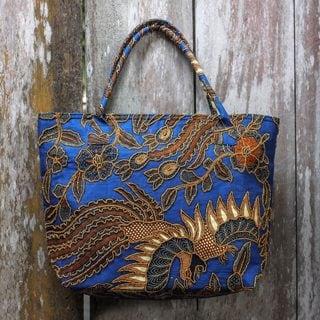 Handcrafted Cotton Batik 'Glorious Java' Tote Handbag (Indonesia)