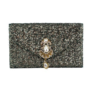 Handcrafted Sequined 'Maharani' Clutch Handbag (India)