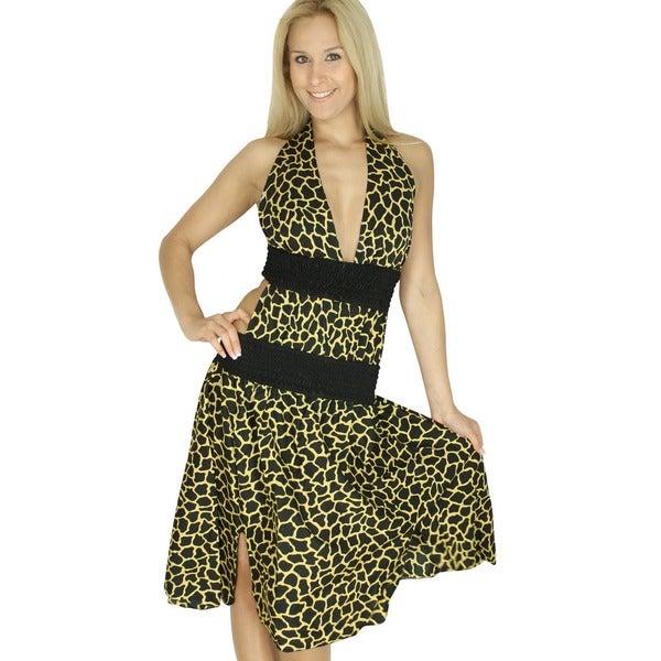 7c7f3d1874968 La Leela Women  x27 s Vintage Theme Beachwear Swimsuit Bikini Cover up  Backless Dress
