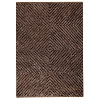 M.A.Trading Indo Hand-tufted Buffalo Brown Wool Area Rug (8'3 x 11'6)