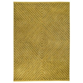 M.A.Trading Indo Hand-tufted Buffalo Green Wool Area Rug (5'6 x 7'10)