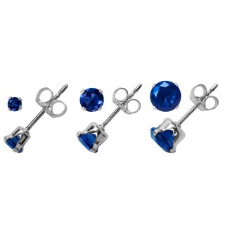 Journee Collection Sterling Silver Cubic Zirconia Round Earring Set