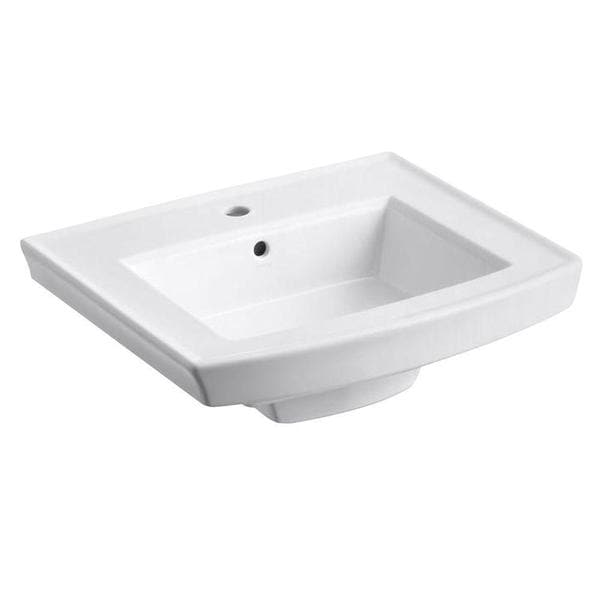Shop Kohler Archer Pedestal Sink Basin in White - Free Shipping ...