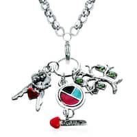 Silver Overlay Teen Girl Charm Necklace