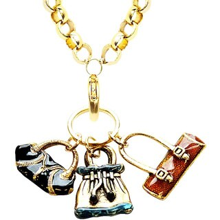 Gold Overlay Purse Charm Necklace