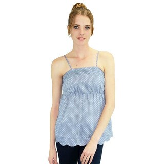 Relished Women's Jacqueline Chambray Baby Doll Top