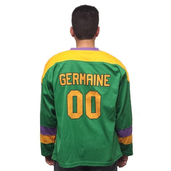 buy popular c2ae1 a7dfa Guy Germaine #00 Mighty Ducks Movie Hockey Jersey 90's Costume Player