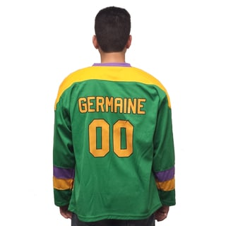 Guy Germaine #00 Mighty Ducks Movie Hockey Jersey 90's Costume Player