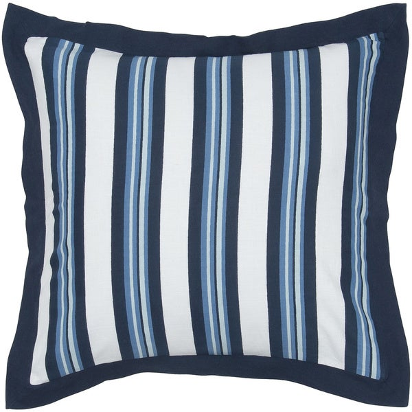 Rizzy Home Fresh Air Navy Striped Euro Sham
