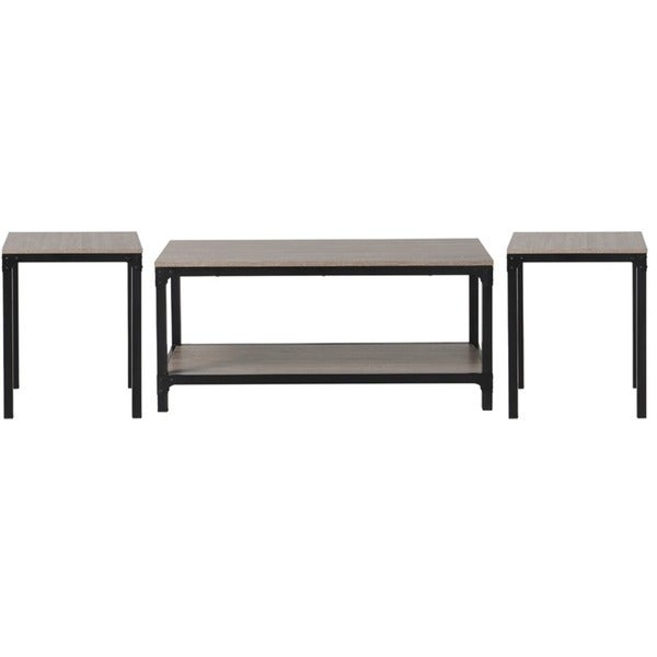 Homestar 3 piece coffee table and side table set in for Side coffee table set