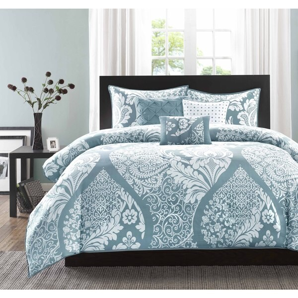 Madison Park Franchesca Cotton Printed 6-Piece Duvet Cover Set