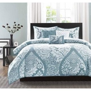 Madison Park Franchesca Cotton Printed 6-Piece Duvet Cover Set