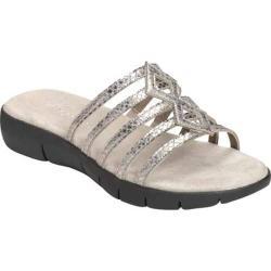 Women's Aerosoles Summer Wip Silver Snake Faux Leather