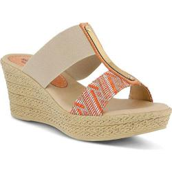 Women's Spring Step Endina Slide Orange Multi Elastic/Textile