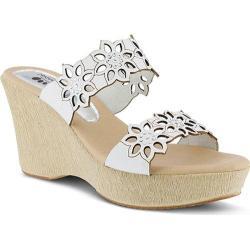 Women's Spring Step Finn Slide White Leather