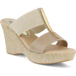 Women's Spring Step Fontane Slide Beige Leather/Elastic