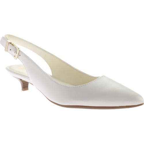 a1c85d07c46 Shop Women s Anne Klein Expert Slingback White Leather - Free Shipping  Today - Overstock - 11681132