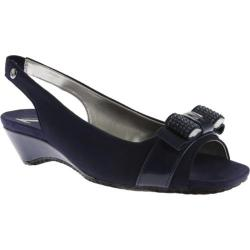 Women's Anne Klein Holman Slingback Navy Multi Fabric