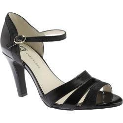 Women's Anne Klein Peplum Sandal Black Combo Synthetic