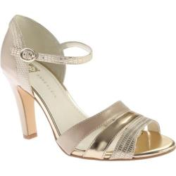 Women's Anne Klein Peplum Sandal Light Natural Multi Synthetic