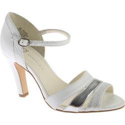 Women's Anne Klein Peplum Sandal White Multi Synthetic