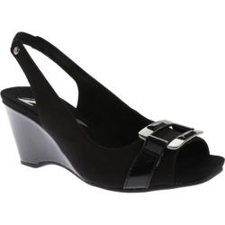 Women's Anne Klein Willful Slingback Black/Black Fabric