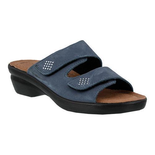 c12a1b2857108d Shop Women s Flexus by Spring Step Aditi Slide Sandal Denim Blue Nubuck -  On Sale - Free Shipping Today - Overstock - 11681198