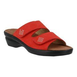 Women's Flexus by Spring Step Aditi Slide Sandal Red Nubuck