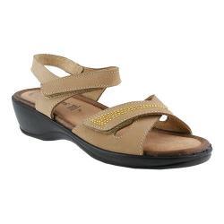 Women's Flexus by Spring Step Caric Quarter Strap Sandal Taupe Nubuck