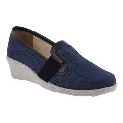 Women's Flexus by Spring Step Creation Slip-On Wedge Blue Textile