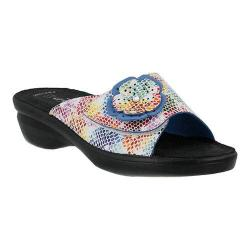 Women's Flexus by Spring Step Fabia Slide Sandal White Multi Leather